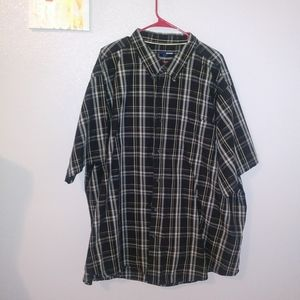 Basic editions button down plaid shirt